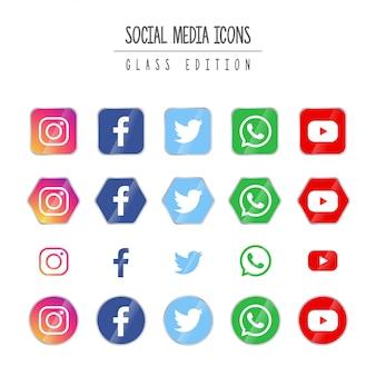 Edição de vidro de mídia social