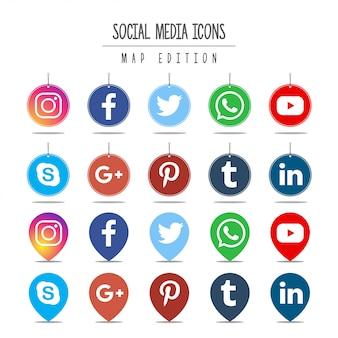 Edição do mapa de mídia social