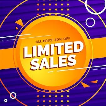 Edição limitada de vendas abstrato