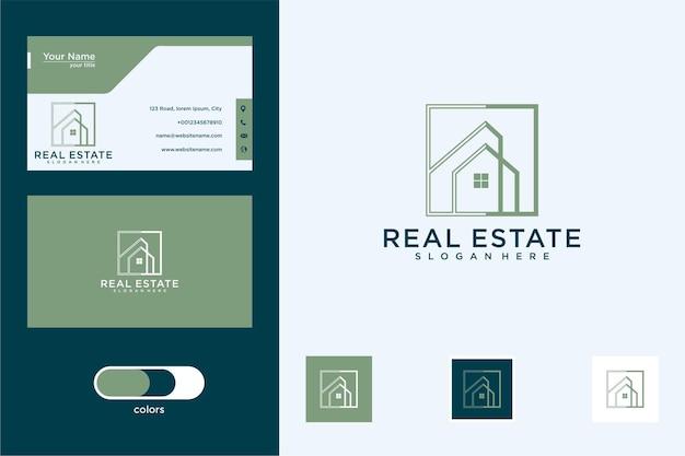 Edifício arquitetônico com logotipo da casa e cartão de visita
