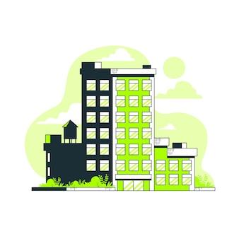 Edifício, conceito, ilustração
