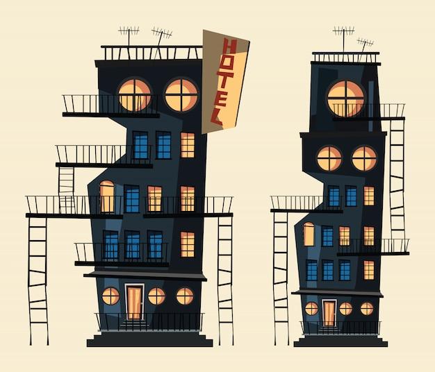 Edifício conjunto ilustração vetorial