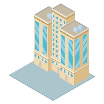 Edifício da empresa isométrica