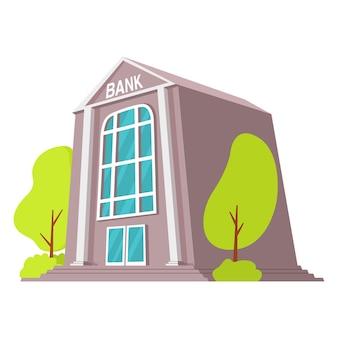 Edifício de banco edifício de fachada financeira