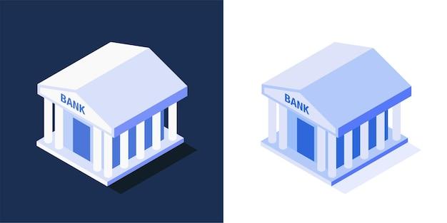 Edifício de banco isométrico
