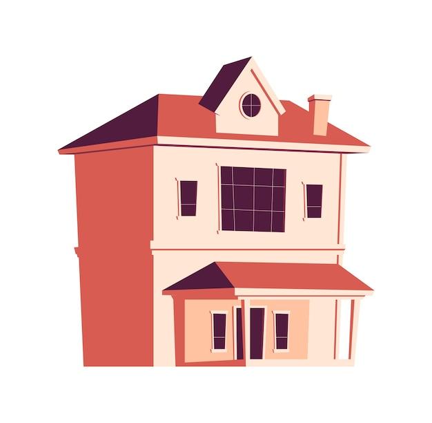 Edifício de casa, ilustração de desenho animado