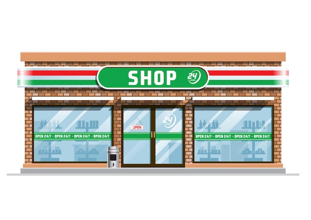 Edifício de loja de conveniência
