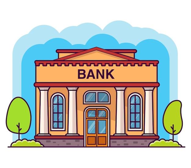 Edifício do banco com colunas edifício do governo fachada do edifício da casa financeira