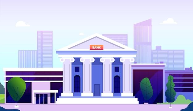 Edifício do banco Vetor Premium