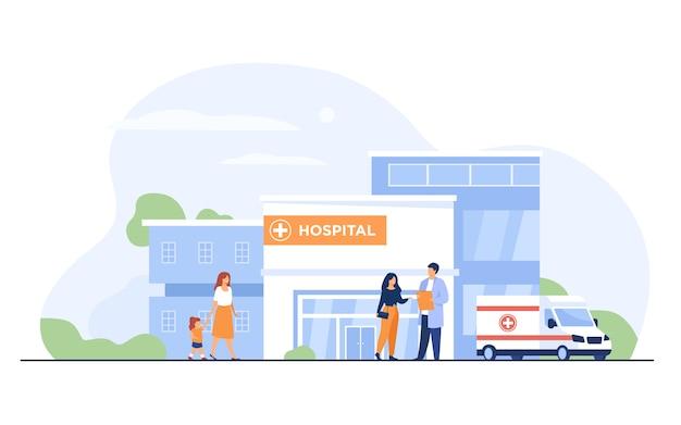 Edifício do hospital da cidade