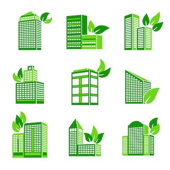 Edifício, eco, ícone