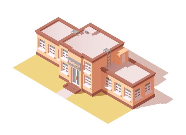 Edifício escolar isométrico