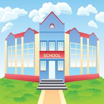 Edifício escolar moderno de vetor