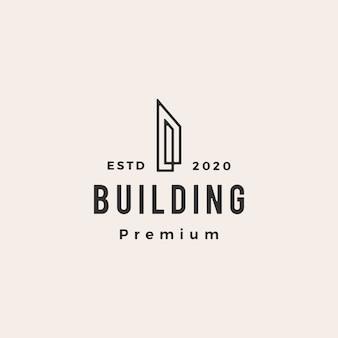 Edifício hipster logotipo vintage icon ilustração