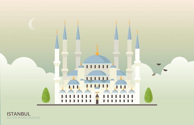 Edifício histórico de mesquita em istambul