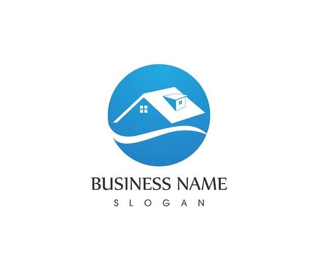Edifício imobiliário home logo design