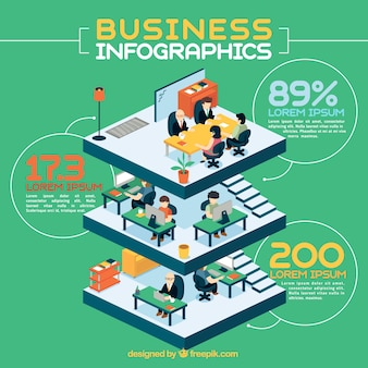 Edifício infografia negócios