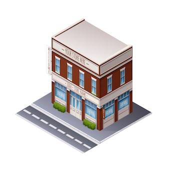 Edifício isométrico de cor