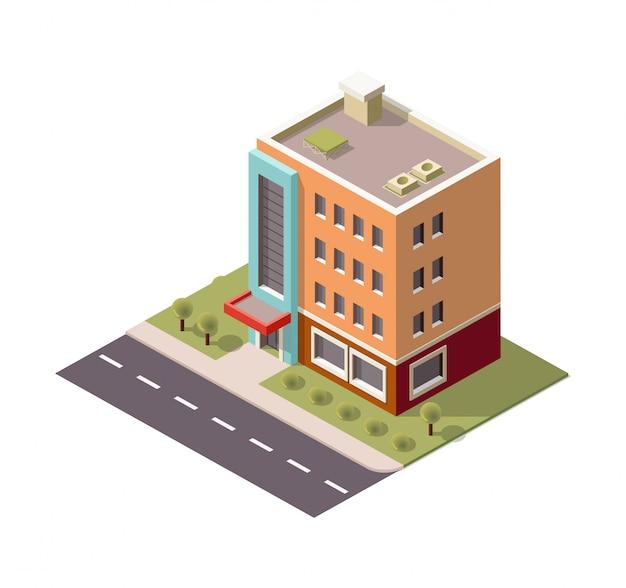 Edifício isométrico de vários andares