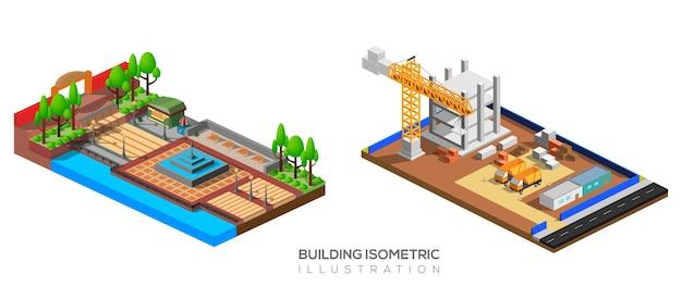 Edifício isométrico
