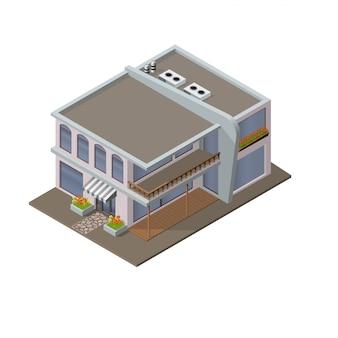 Edifício moderno com loja