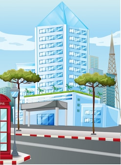 Edifícios altos na cidade