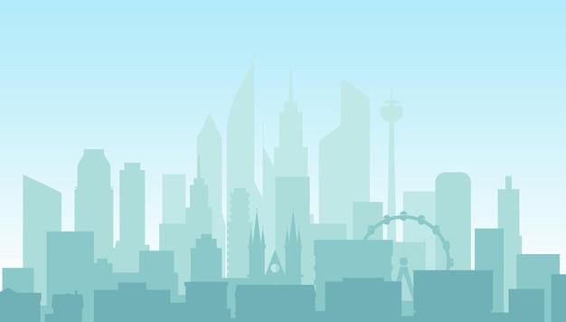 Edifícios comerciais, casas e arranha-céus
