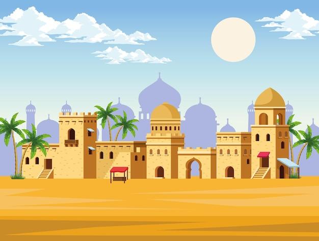 Edifícios da cidade muçulmana