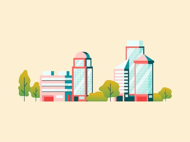 Edifícios de escritórios de alta tecnologia