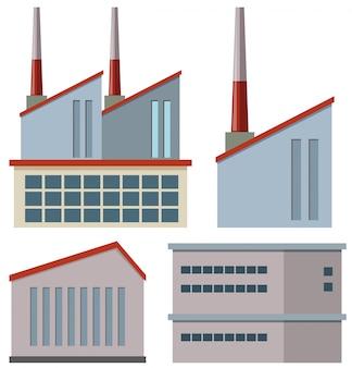 Edifícios de fábrica com chaminés