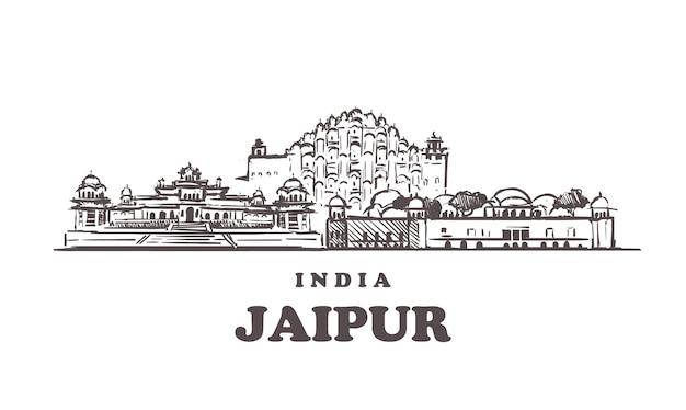 Edifícios de jaipur na índia