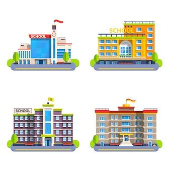 Edifícios escolares modernos e clássicos