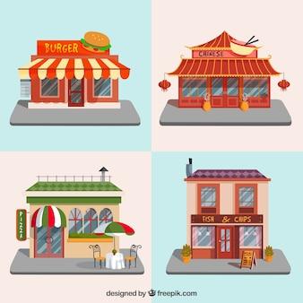 Edifícios internacionais restaurante