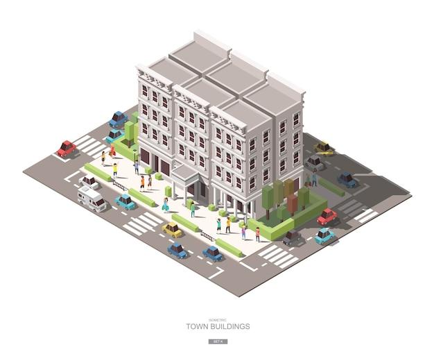 Edifícios isométricos da cidade