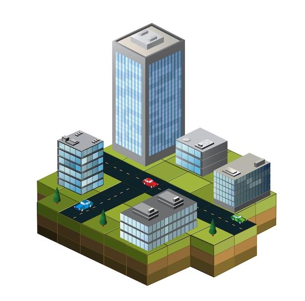 Edifícios isométricos