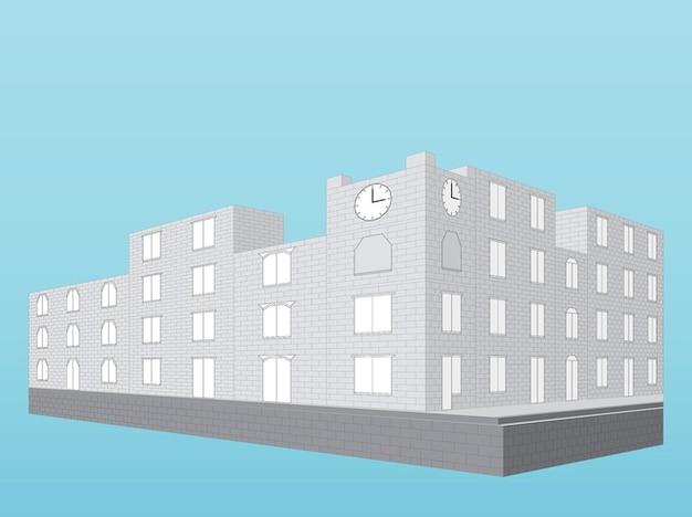 Edifícios modernos ilustração 3d