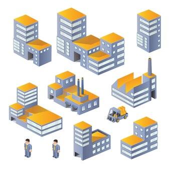 Edifícios no isométrico