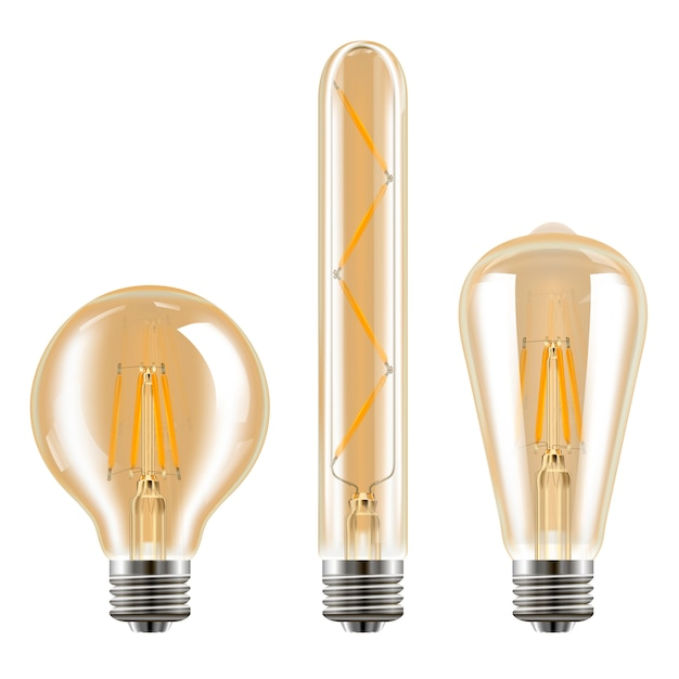 Edison conjunto de luzes.