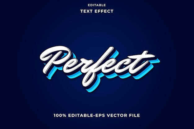 Editable text effect simple perfect
