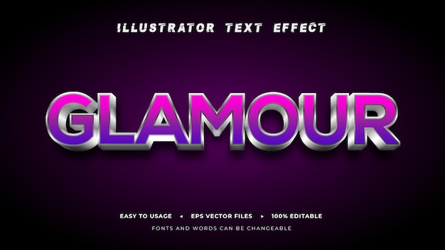 Editable_text_glamour_style_effect