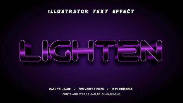 Editable_text_lighten_style_effect