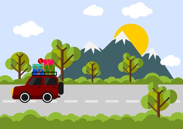 Editable vacation vector illustration