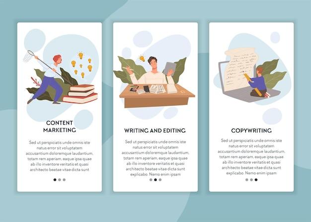 Editando e escrevendo conteúdo de criação de direitos autorais