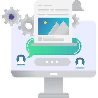 Editar ícone trabalho on-line vetor símbolo de documento da web