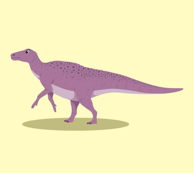 Edmontosaurus cartoon ilustração design