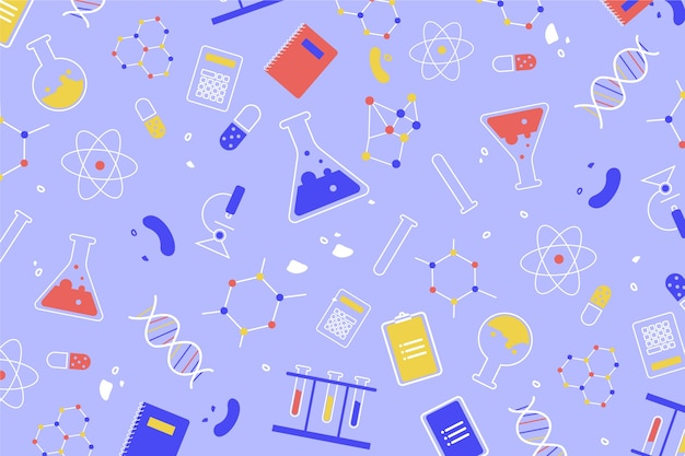 Educação científica de design colorido