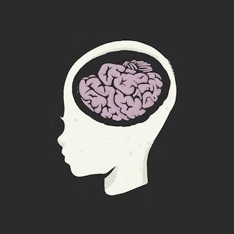Educação, conceito, ilustração do cérebro