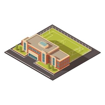 Educação do governo ou conceito de edifício de instituição de esportes