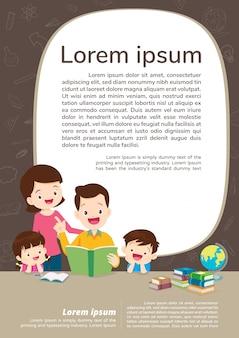 Educação e aprendizagem, conceito de educação com família