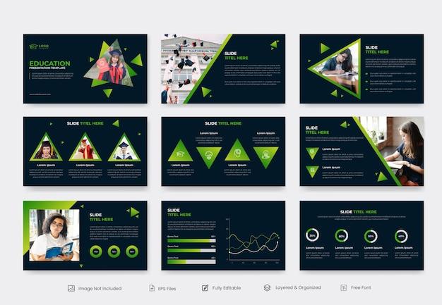 Educação e aprendizagem modelo de apresentação de slides powepoint